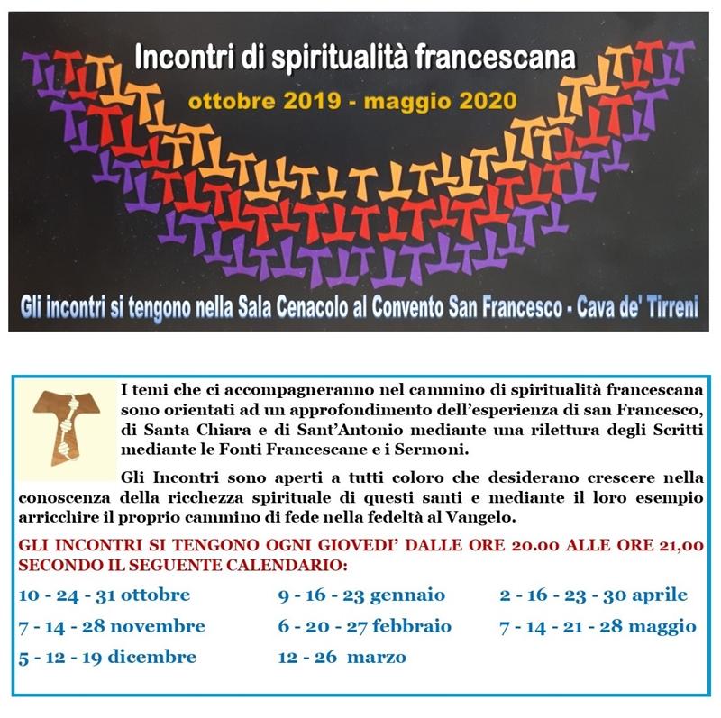 Incontri spiritualità francescana